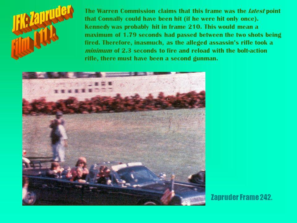 JFK: Zapruder Film [ 11 ]. Zapruder Frame 242.